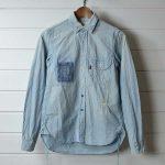 chimala|チマラ ダメージ加工シャンブレーシャツ|