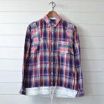 サカイ|sacai長袖マドラスチェック ボタンダウンシャツのお買取り