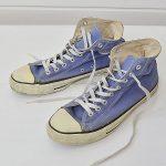 コンバース オールスター USA製 ビンテージ キャンバス 8.5 ハイカット 青紫のお買取り