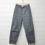 アトリエナルセ atelier naruse|twill window pane peg-top パンツのお買取