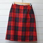 アトリエナルセ タータンチェック スカート F レッド atelier naruseのお買取