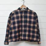 グランマママドーター チェック ワイド ネルシャツ 0 GRANDMA MAMA DAUGHTERのお買取