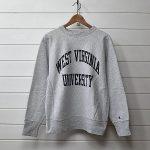 champion チャンピオン 80's リバースウィーブ ビンテージ WARMUP スウェットシャツ WEST VIRGINIA UNIVERSITY グレー USA製のお買取り情報